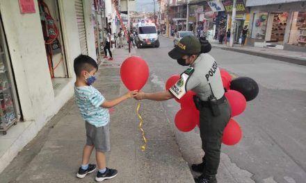 Pitalito a favor de la sensibilización del uso de tapabocas en niños
