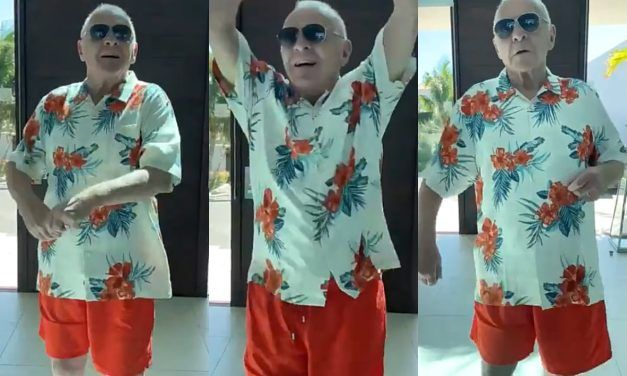 """Soy colombiano"": Anthony Hopkins bailó a a ritmo del merengue"
