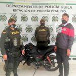 Recuperaron motocicleta hurtada en Pitalito