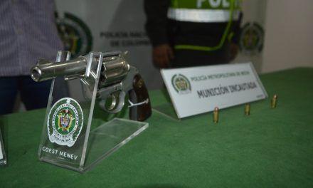 Logran incautar 5 armas de fuego ilegales en área metropolitana de Neiva