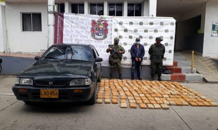 Capturan a dos personas por movilizar 113 kilos de marihuana