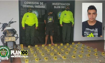 Capturado en Yaguará con 25 kilos de marihuana