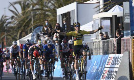 Fernando Gaviria, tercero en inicio de Tirreno-Adriático