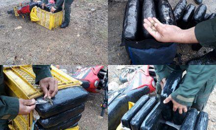 Capturan a sujeto con 65 kilos de marihuana en Nátaga