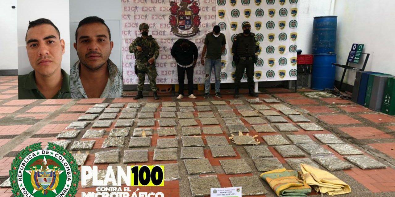 Capturados en operativo dos riverenses con 386 kilos de marihuana