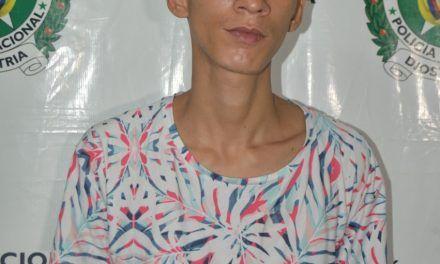 Delincuente fue capturado por porte ilegal de armas