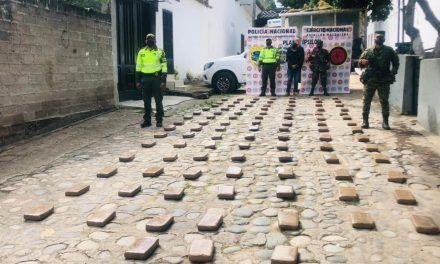 Incautan 207 kilos de base de coca avaluados en más de $600 millones en Suaza