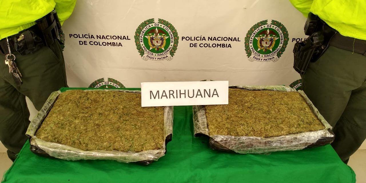 Incautan 5 mil gramos de marihuana avaluada en $8 millones en La Plata