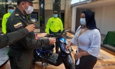 Recuperaron motocicleta que había sido hurtada