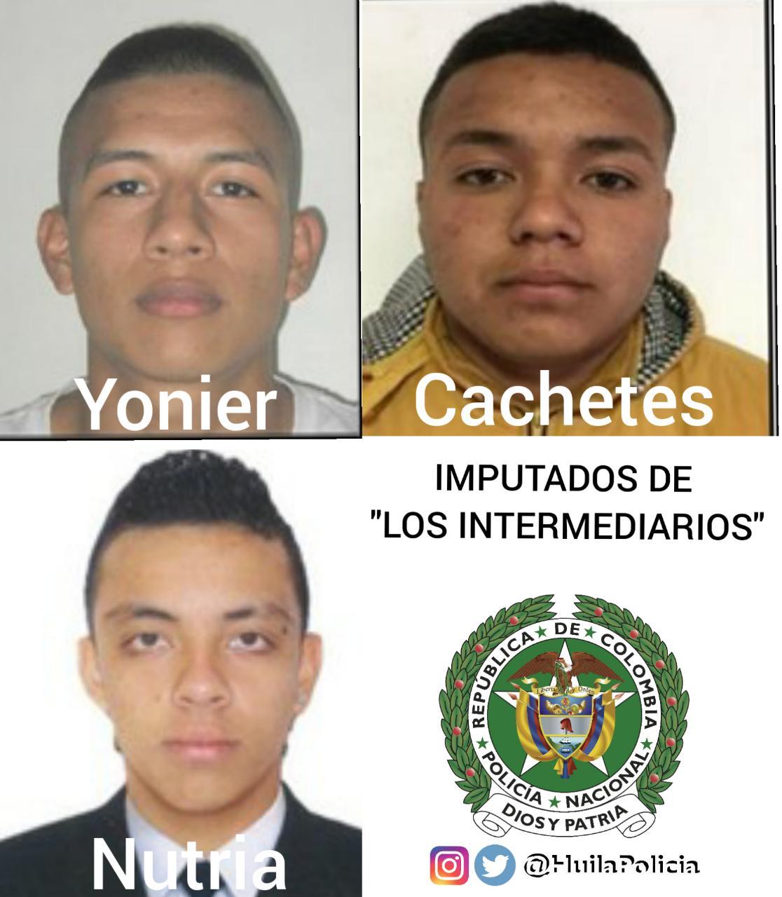 """Desarticulan banda """"Los Intermediarios"""" en Pitalito"""