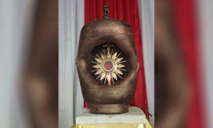 Cilindro usado en un atentado ahora es símbolo de eucaristía en Nariño