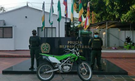 Recuperan motocicleta que había sido hurtada en el municipio de Tello