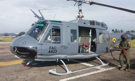 Llegaron cinco helicópteros donados por EE.UU. para acompañar la aspersión aérea con glifosato