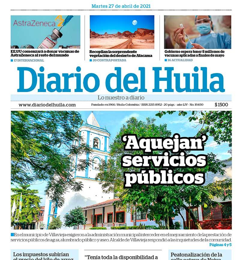 Diario del Huila 27 de abril del 2021