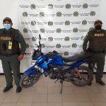 Recuperan motocicleta que había sido hurtada en Rivera el mes pasado
