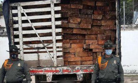 Policía incautó 22.5 metros cúbicos de madera