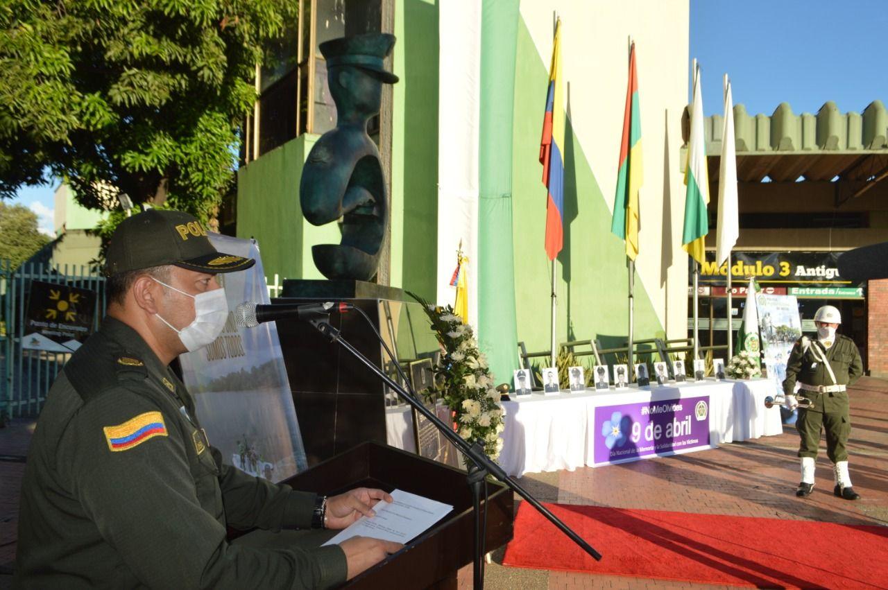 El Coronel Diego Fernando Vásquez Argüello comandante de la Policía Metropolitana de Neiva.