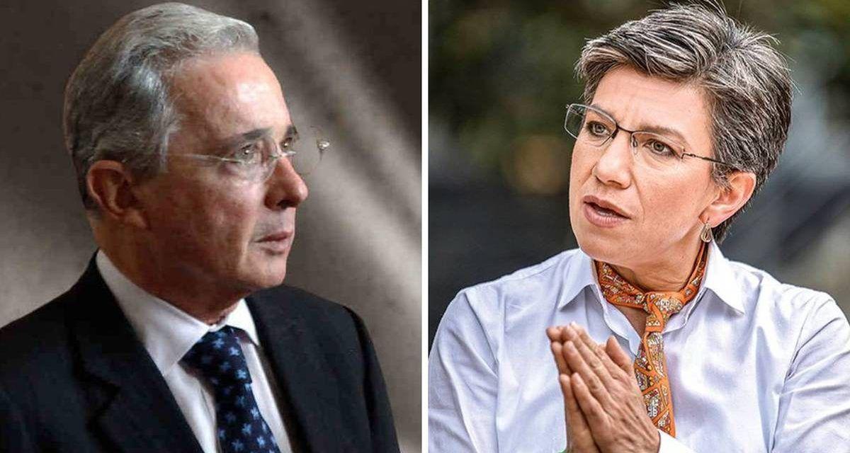 Nueva arremetida de Álvaro Uribe contra Claudia López: «Dice trabajar mucho, pero no le rinde»