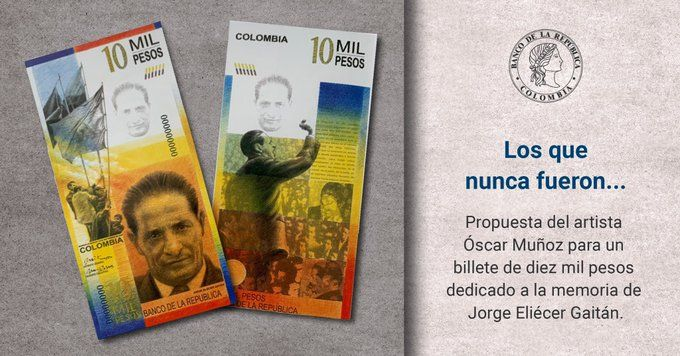 Este fue el billete de $10 mil en honor a Jorge Eliecer Gaitán, que nunca circuló