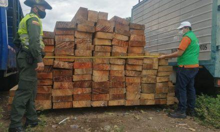 Incautan madera procedente del Caquetá en barrio Calixto