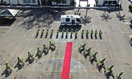 Policía Metropolitana de Neiva recibió 28 motocicletas para optimización de su servicio