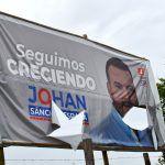 Destruyen publicidad de la campaña de Johan Sánchez España en El Agrado