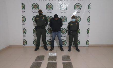 Con 3 kilos de marihuana fue capturado sujeto en Paicol