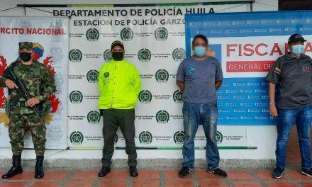 Por abusar sexualmente de un menor de 14 años, sujeto fue capturado en Garzón