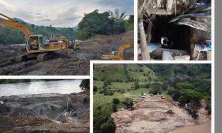 Rescataron los cuerpos de los once mineros atrapados en el socavón de oro en Neira, Caldas