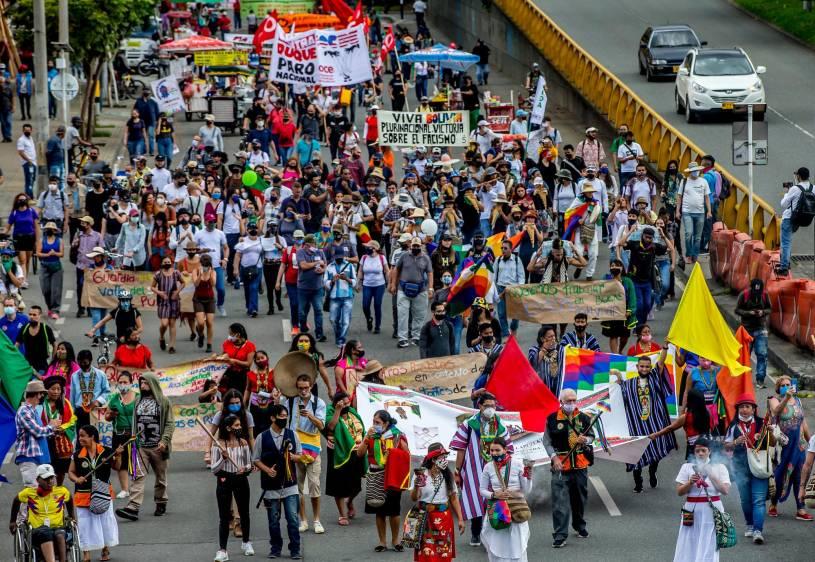 """""""Piensen en los demás"""": director de Policía a manifestantes del paro"""