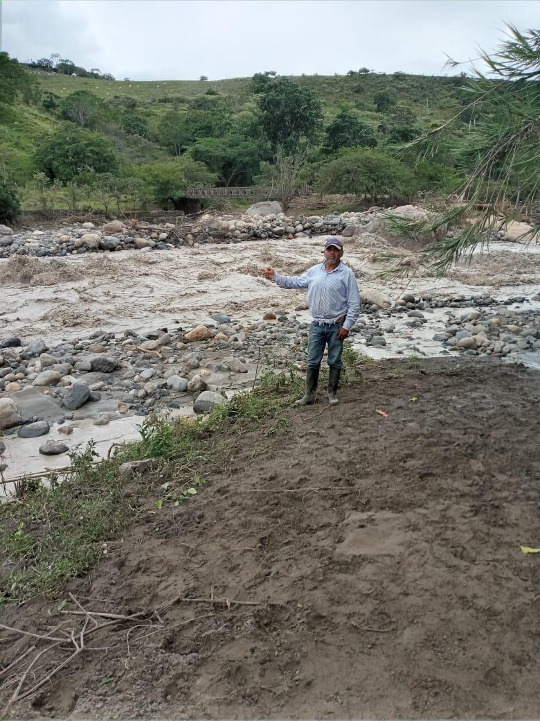 En Santa Ana exigen intervención, el río les cambió de cauce