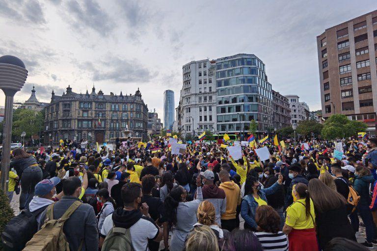 Colombianos en el mundo rechazaron la violencia y apoyaron el paro nacional