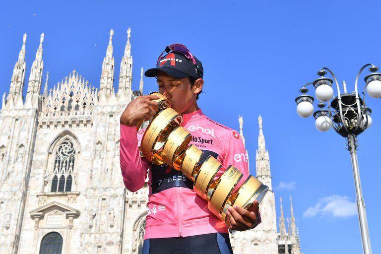 Egan Bernal se coronó campeón del Giro de Italia