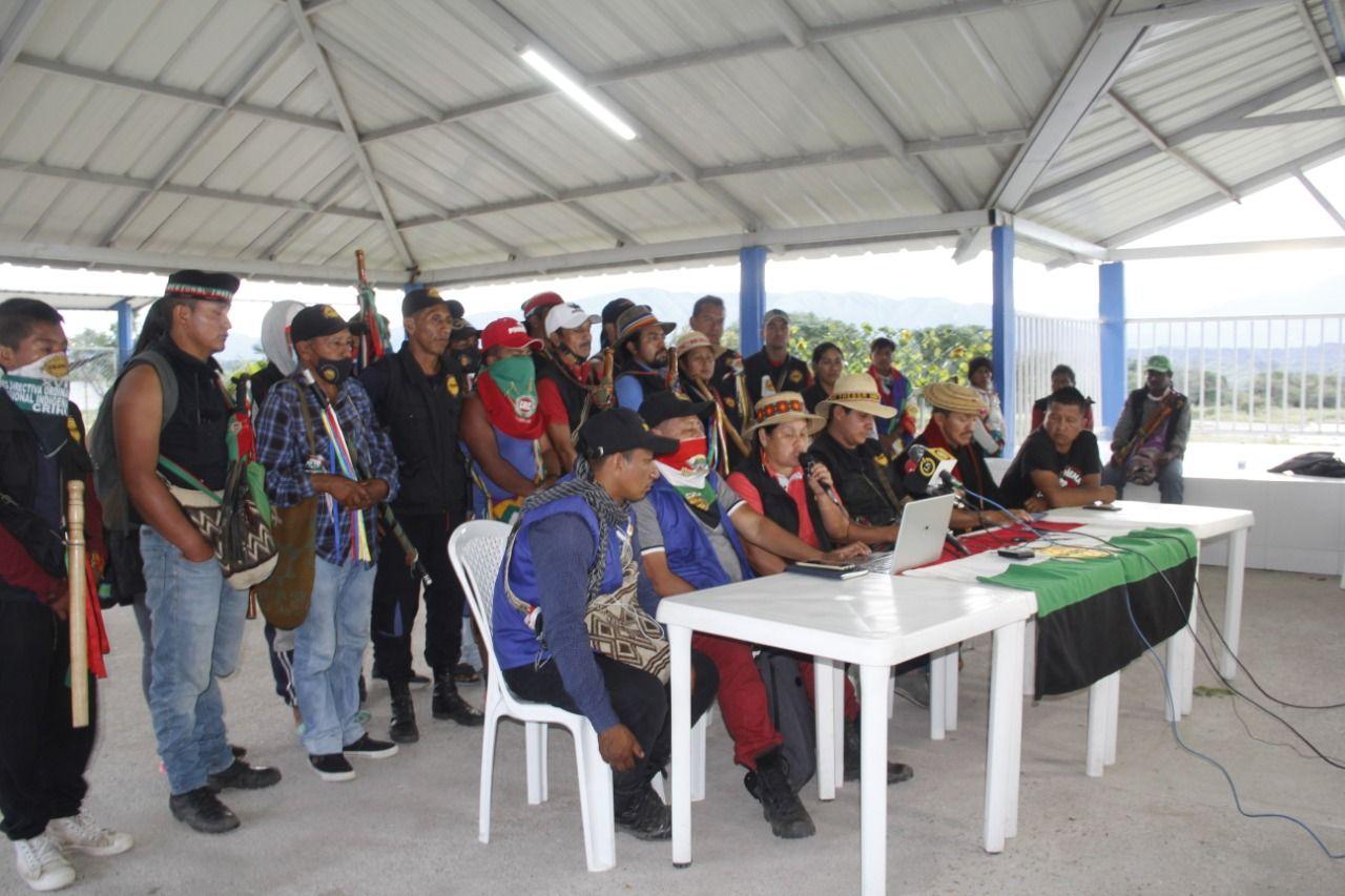 Minga indígena anuncia cierre total de Ruta 45 en puente El Pescador, municipio de Hobo