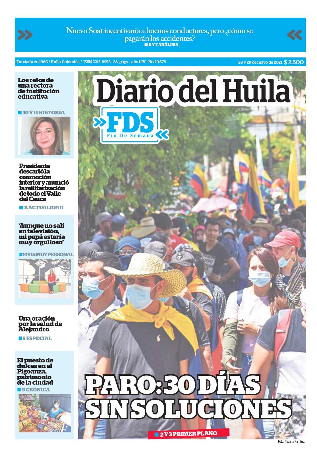 Diario del Huila 29-30 de mayo de 2021