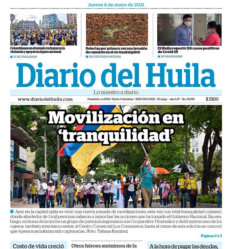 Diario del Huila 6 de mayo del 2021
