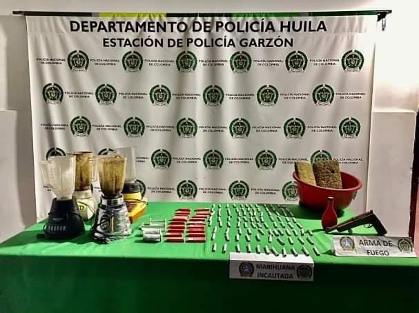 Desmantelado sitio de expendio de marihuana en Garzón