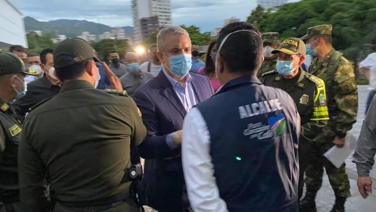Presidente descartó la conmoción interior y anunció la militarización de todo el Valle del Cauca