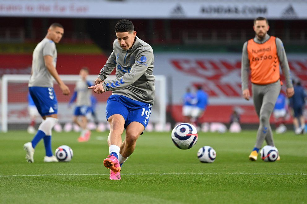 Con James Rodríguez, Everton se juega la ilusión de entrar a Europa League