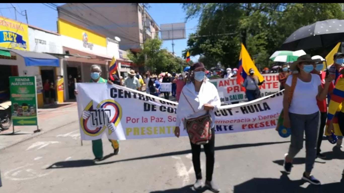 Marchas transcurren con normalidad en Neiva
