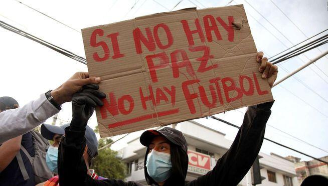Protestantes exigieron la cancelación de la Copa América