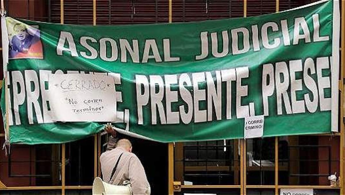 Asonal Judicial anuncia cese de actividades