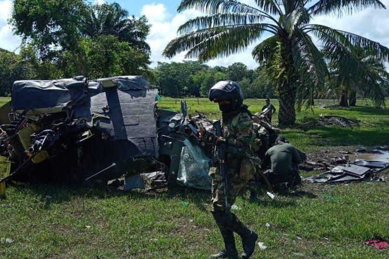 Cinco policías murieron en accidente de helicóptero en Cantagallo, Bolívar