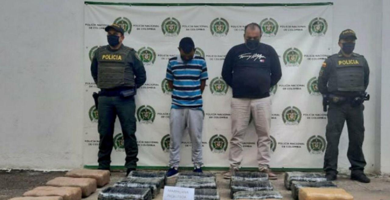 A la cárcel capturados en Yaguará por transportar marihuana