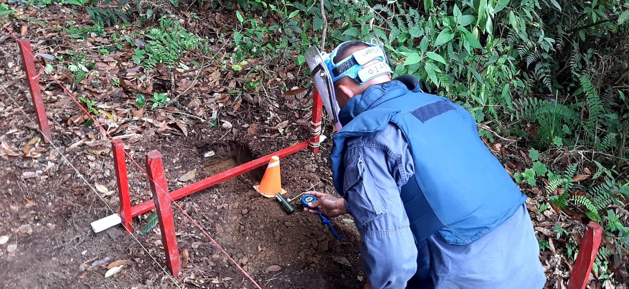 Descartan sospecha de presencia de minas antipersonal en más de 75.000 metros cuadrados