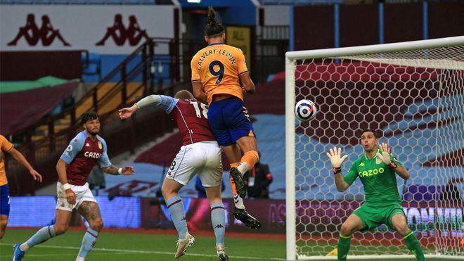 Sin James ni Mina, Everton empató contra Aston Villa