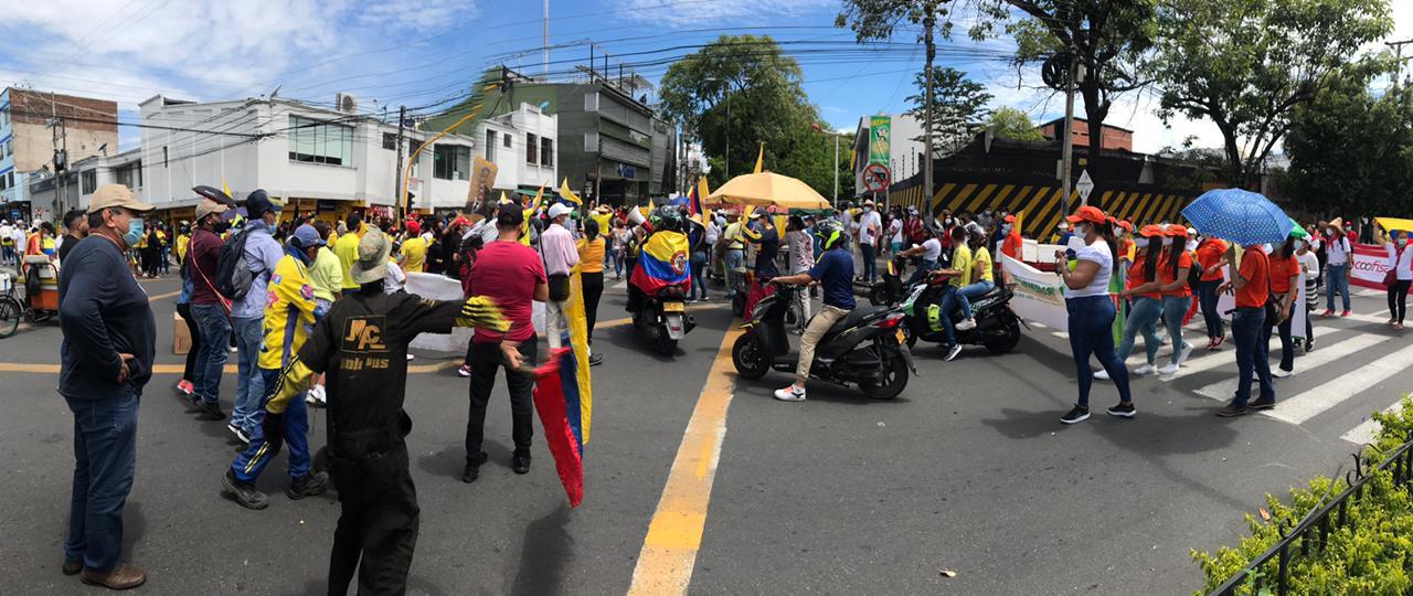 Avanza marcha pacífica en el Huila