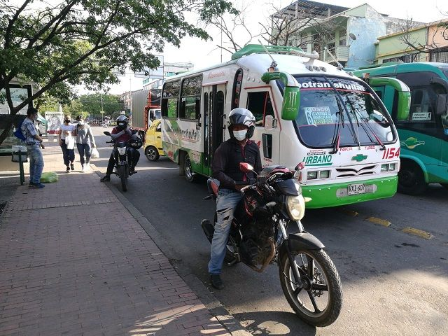 Mototrabajadores se unen al Paro Nacional