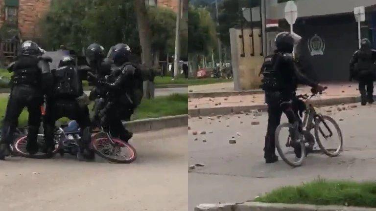 Agentes del Esmad golpearon a un niño y a dos periodistas que grabaron la agresión