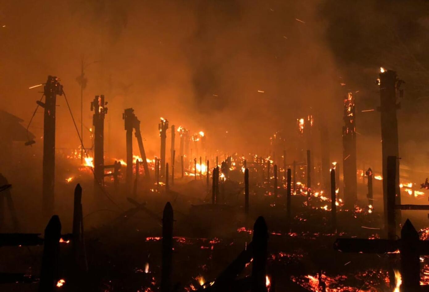 Rayo provocó incendio en el parque Panaca